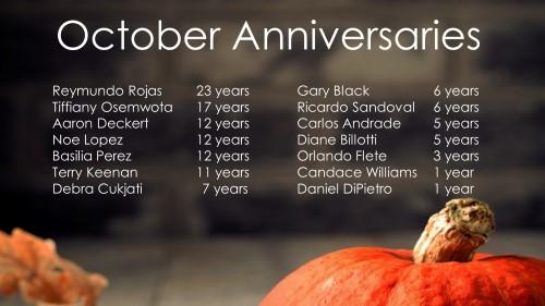 October Celebrations 2017